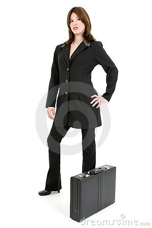 Free Beautiful Hispanic Woman With Briefcase Royalty Free Stock Photos - 416198