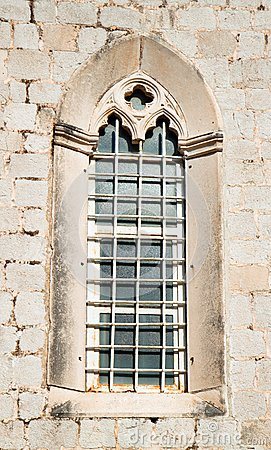 Beautiful historical window in Mediterranean style