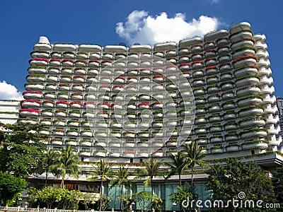 Beautiful hotel building