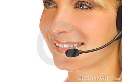 Beautiful hotline operator