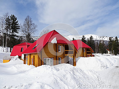 The beautiful house in mountains stock photo image 39633086