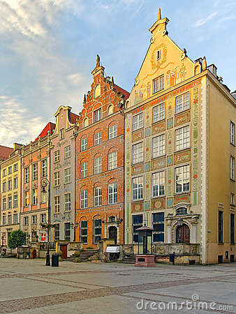 Beautiful houses in Gdansk