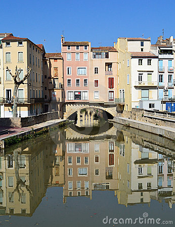 Free Beautiful Houses In Narbonne, France Stock Photography - 21438262