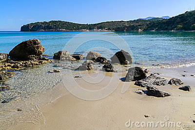 Beautiful idyllic turquoise waters shoreline