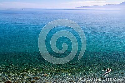 Beautiful idyllic turquoise waters shoreline