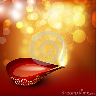 Beautiful illuminating Diya background