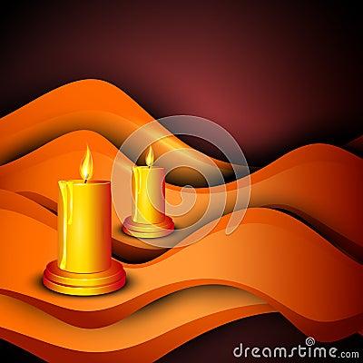 Beautiful illuminating Diya background