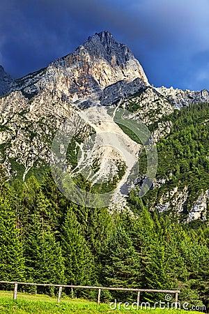 Peak in Dolomites Mountains