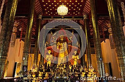 Beautiful image of three standing buddha