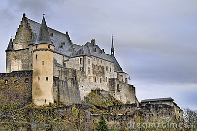 Beautiful Image of Vianden Castle.