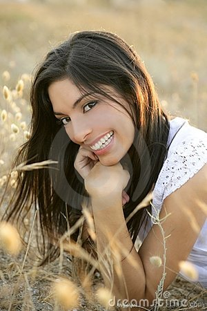 Free Beautiful Indian Brunette In A Golden Field Royalty Free Stock Image - 10169746