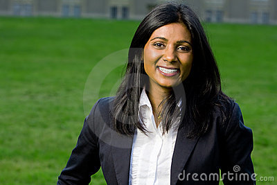Beautiful indian girl smiling