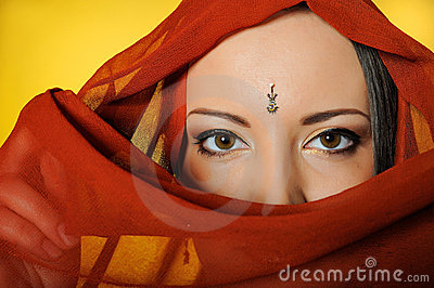 beautiful indian traditional woman eyes