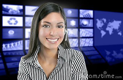 Beautiful indian woman television news presenter