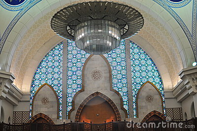 The beautiful interior design of Wilayah mosque