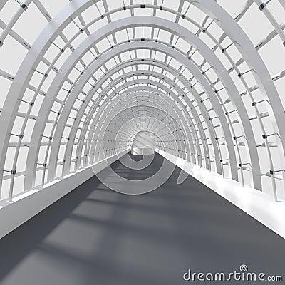 Beautiful interior rendering - Long Corridor