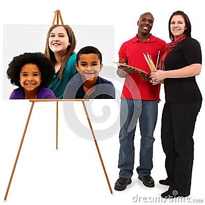 Beautiful Interracial Family Portrait