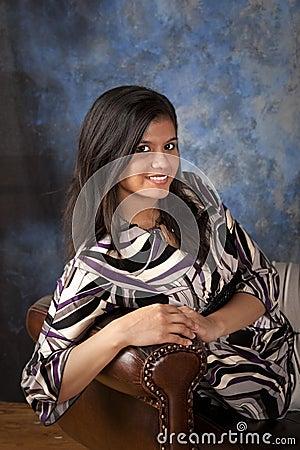 Beautiful interracial woman