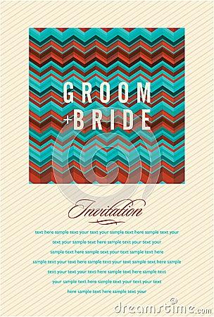 Beautiful invitation card. Vector illustration Vector Illustration