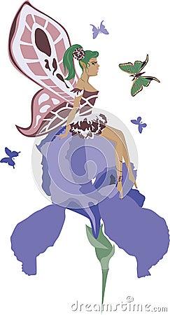 Beautiful iris fairy