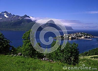 Beautiful island in Norway