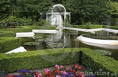 Beautiful Italian Garden, British Columbia, Canada