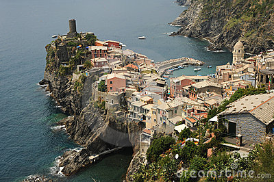 Beautiful Italian village of Vernazza