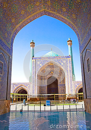 Beautiful Jame Abbasi mosque (Imam mosque) Iran