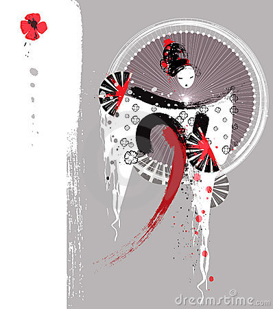 Beautiful japanese geisha background