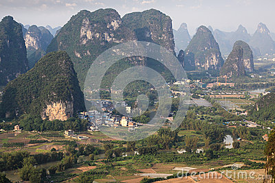 Beautiful karst mountain in yangshuo