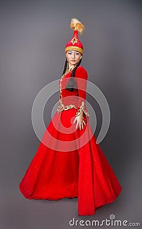 Free Beautiful Kazakh Woman In National Costume– Stock Image Stock Image - 139557841