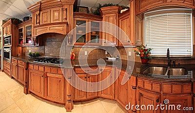Beautiful kitchen panorama