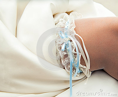 Beautiful lace garter
