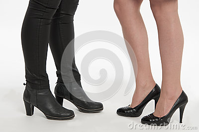 Beautiful ladies footwear: boots and pumps