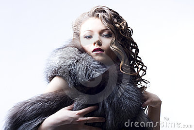Beautiful lady in fur