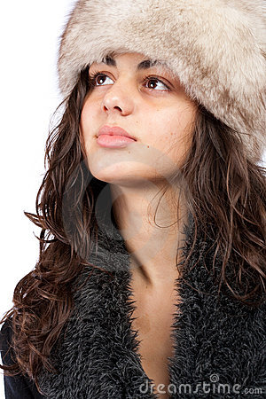 Free Beautiful Lady In Winter Coat And Hat Stock Photos - 11409563
