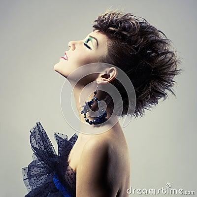 Beautiful lady punk