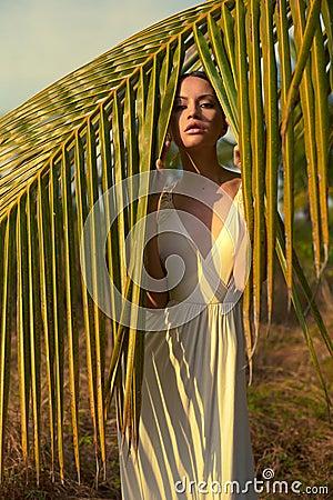 Beautiful lady in sunlight