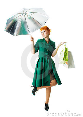 Beautiful lady with an umbrella