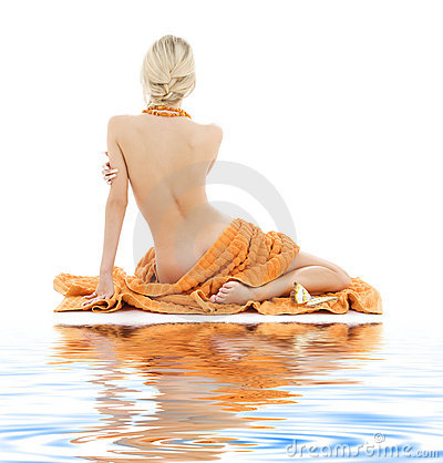 Free Beautiful Lady With Orange Towels Stock Photo - 6078890