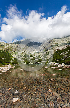 Beautiful Lake in High Tatras - Skalnate Pleso