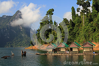 Beautiful of Lake Khao Sok national park.