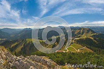 Beautiful landscape Alps mountains
