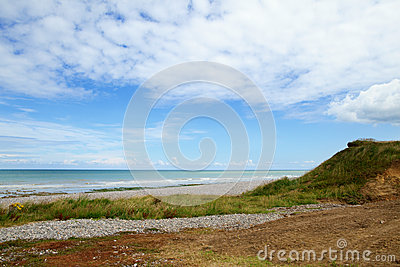 Beautiful landscape of a beach in Normandy