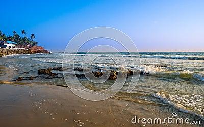 Beautiful landscape of the coast of India, Kerala