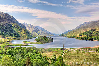 Beautiful landscape of  Loch Shiel, Scotland