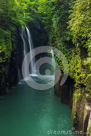 Free Beautiful Landscape Of Takachiho Gorge And Waterfall In Miyazaki Stock Images - 89396474