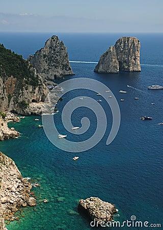 Beautiful landscape, rocks and the sea