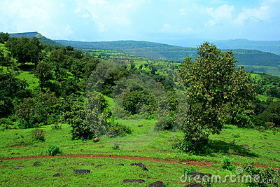 Beautiful landscape scene in Satara