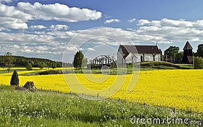 Beautiful landscape in Sweden